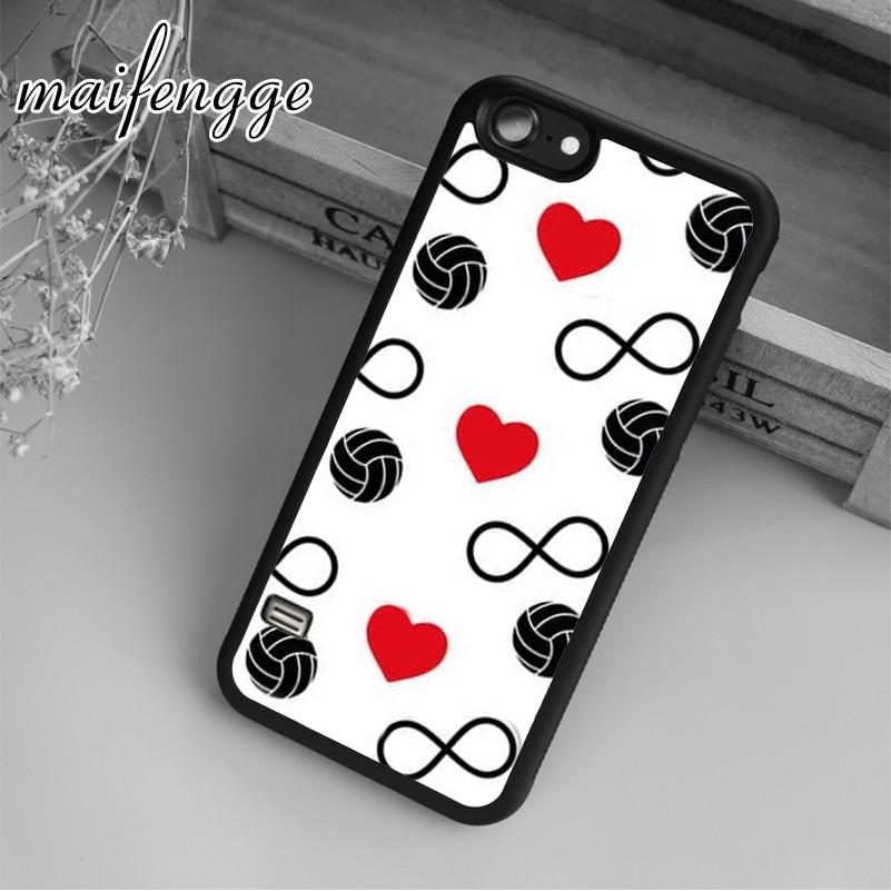 Maifengge infinito amor voleibol corazones de caso para iPhone 5 5 s 6s 7 8 plus 11 pro X XR XS Max Samsung Galaxy S6 S7 borde S8 S9