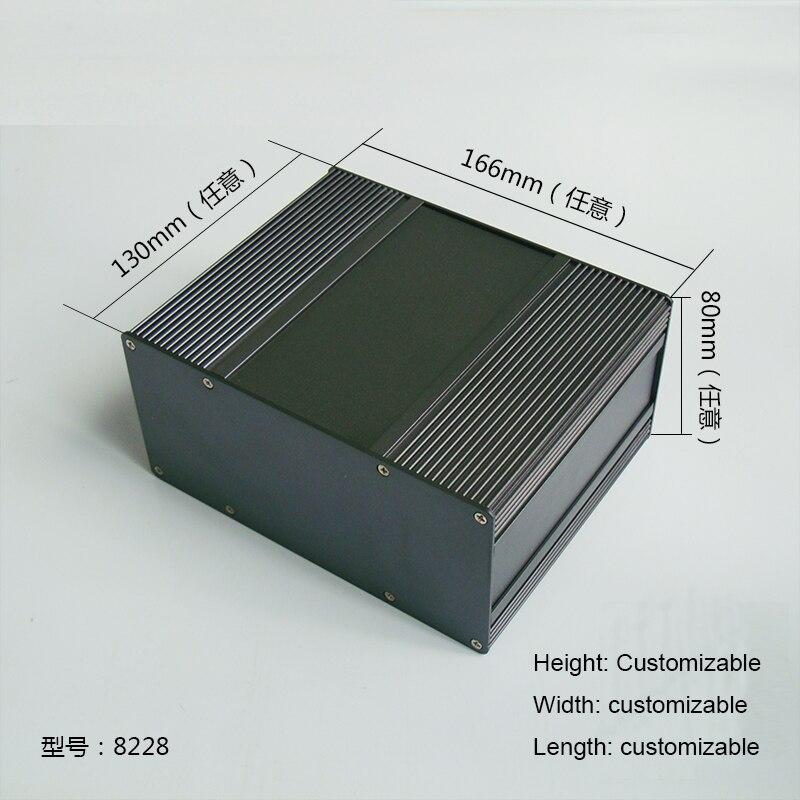 1 pieza gris Color Aluminio funda carcasa para electrónica caso Proyecto 80 (H) x166 (W) x130 (L) mm 8228