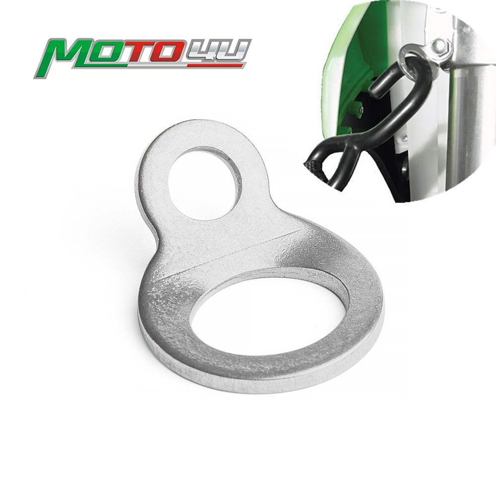 Amarre de acero inoxidable, anillos con correa gancho de perno Universal para motocicleta, todo terreno, Dirtbike, calle, ATV, UTV