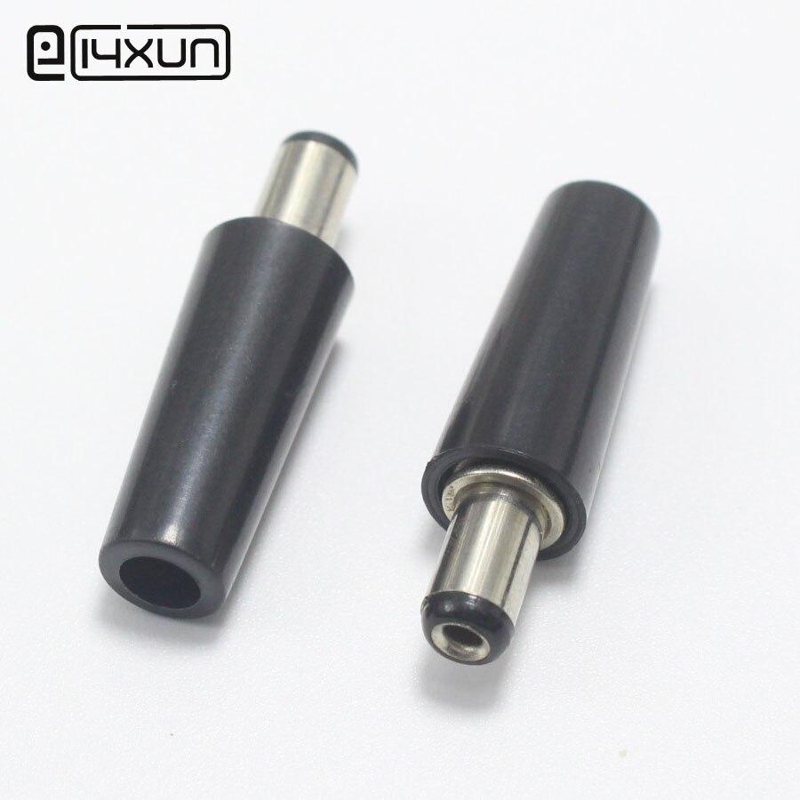 Eclyxun 1-10 pces dc plug tomada elétrica masculina DC-022 DC-005 DC-022B dc tomada 5.5x2.5mm 5.5*2.5
