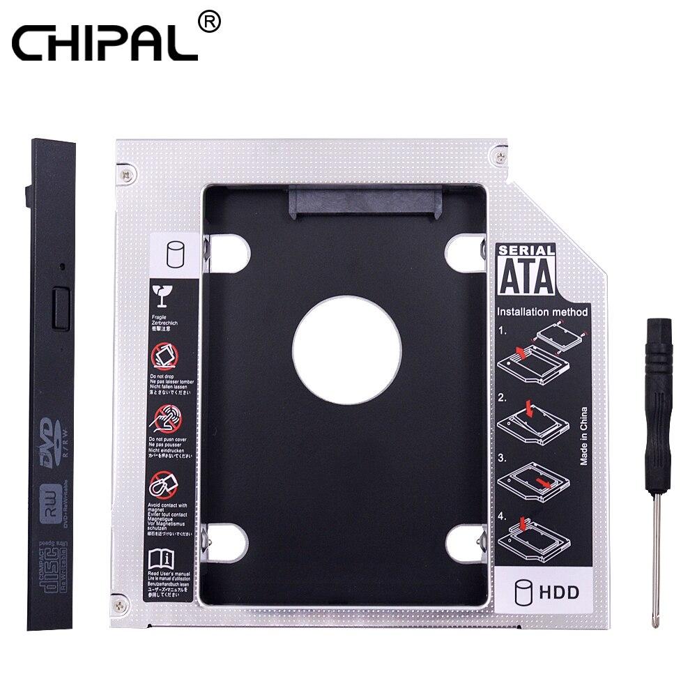 "CHIPAL PATA IDE a SATA 3,0 2nd HDD Caddy 12,7mm para 2,5 ""2TB Cubierta para SSD y HDD carcasa para Notebook CD-ROM DVD-ROM Bahía óptica"