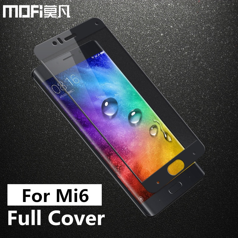 Xiaomi mi6 glass tempered MOFi original xiaomi mi 6 screen protector film full cover xiaomi 6 mi6 tempered glass 5.15 inch