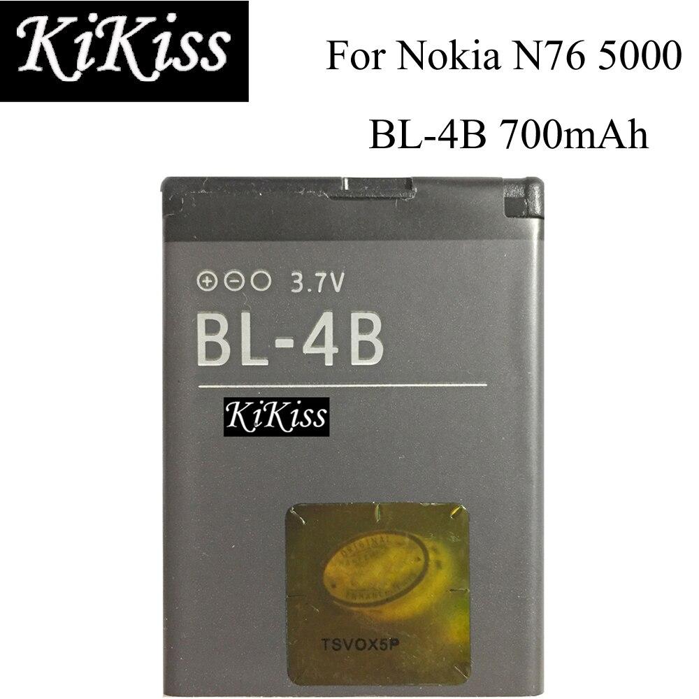 KiKiss Li-Ion Batería Del Teléfono móvil BL-4B 700mAh para Nokia N76 5000 5320XM 7070, 2505, 2630, 2660, 2760, 7088, 2730, 6111 N75 BL 4B