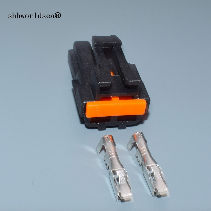 shhworldsea 2 pin 2.8mm auto plastic unsealed connector plug cable wiring connector plug
