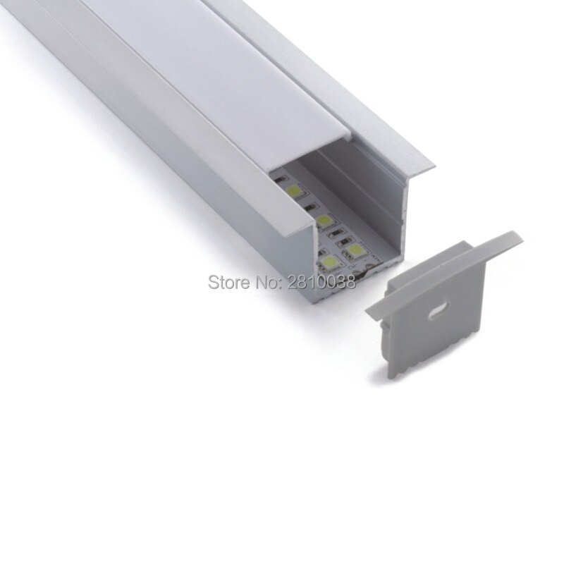 100 X 2M Sets/Lot 56mm wide T type aluminium led extrusions and al6063 T6 led strip aluminum channel for ceiling lights