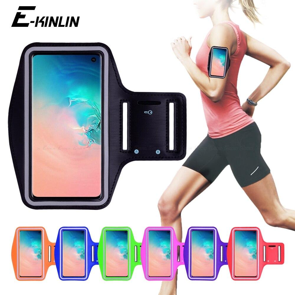 Corriendo deportes gimnasio bolsa cubierta de la banda de brazo caso de teléfono para Samsung Galaxy S7 borde S8 S9 S10e S10 S20 Ultra nota 5 8 9 10 Plus Lite 5G