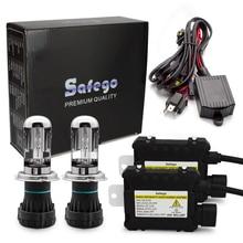 Safego-kit hid bixenon de voiture 35w   h4 Bi, h4 low Hi Lo 5000k 6000k 8000k 4300k 12000k k k k pour phares de voiture