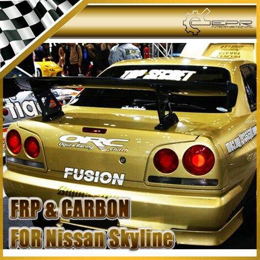 Автомобильный Стайлинг для Nissan Skyline R34 Top Secret спойлер из углеродного волокна GT