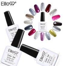 Elite99 brillant poire Gel laque 10ml UV/LED Gel vernis à ongles chatoyant paillettes couleur manteau imbiber ongles Gel vernis