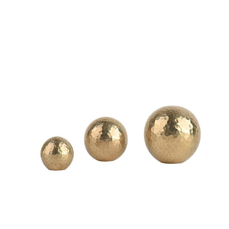 Manijas de gabinete de latón macizo, tiradores de bola de oro para vestidor, mueble moderno europeo Simple, Pomo de puerta