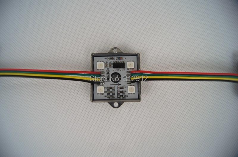 20pcs DC12V WS2801 LED smart module;36mm*36mm Square type;4pcs 5050 smd;0.96W