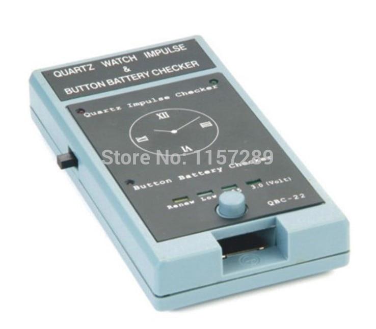Envío Gratis QBC-22 reloj de cuarzo impulso y botón batería comprobador batería probador reloj herramienta