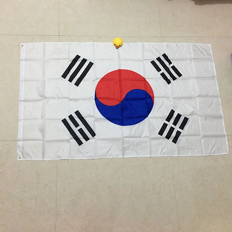 AliExpress - free  shipping  xvggdg   90*150cm South Korea Flag Polyester Flag Banner for Festival Home Decoration