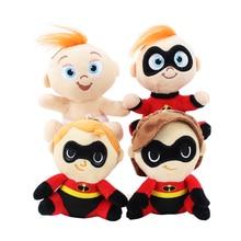 4 estilos The Incredibles Toy Plush Sr Incrível Bob Parr Elástica Violeta Parr Traço Jack Macio Stuffed Dolls