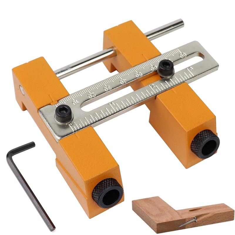 Kit de guía de perforación con agujero de bolsillo ajustable de 20 a 85mm, punzón de perforación en ángulo, plantilla localizadora para trabajos de carpintería DIY