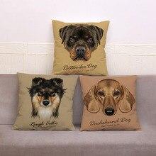 Colorful Cute Dog Print Cushion Cover 45*45cm Plush Pillow Case Sofa Home Decor Monkey Cat Squirrel Animal Pillowcase