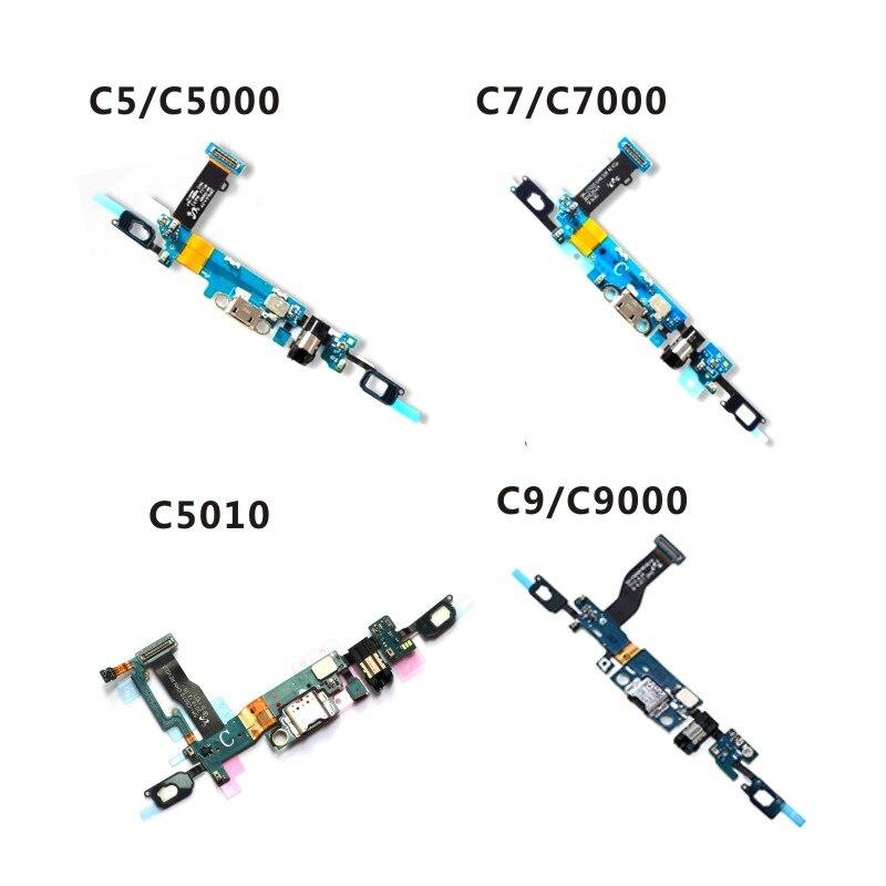 Para samsung c5 c5000 c7 c7000 c5010 c9 c9000 porto de carregamento cabo flexível doca conector carregador placa usb