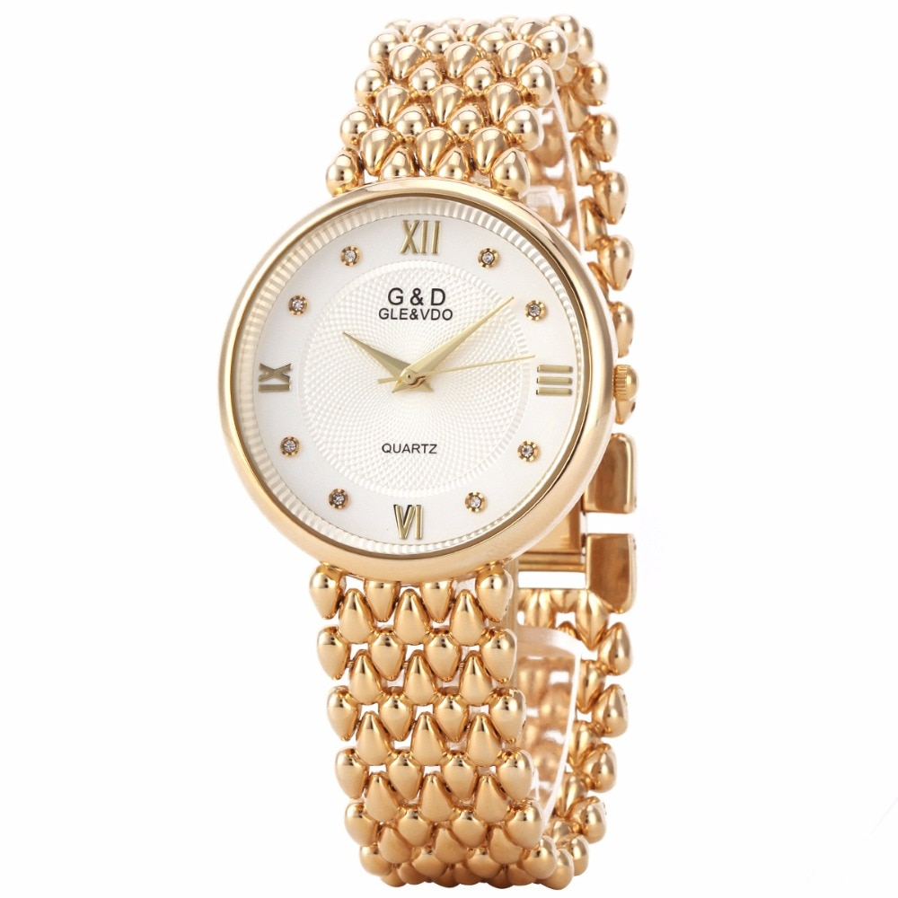 G&D Top Brand Luxury Gold Womens Wristwatches Fashion Quartz Watches Ladies Bracelet Watches Relogio Feminino Gifts Reloj Mujer enlarge