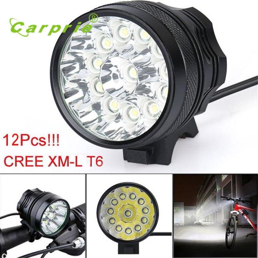 Super 30000 lm 12x cree t6 led 3 modos de bicicleta lâmpada luz do farol ciclismo tocha