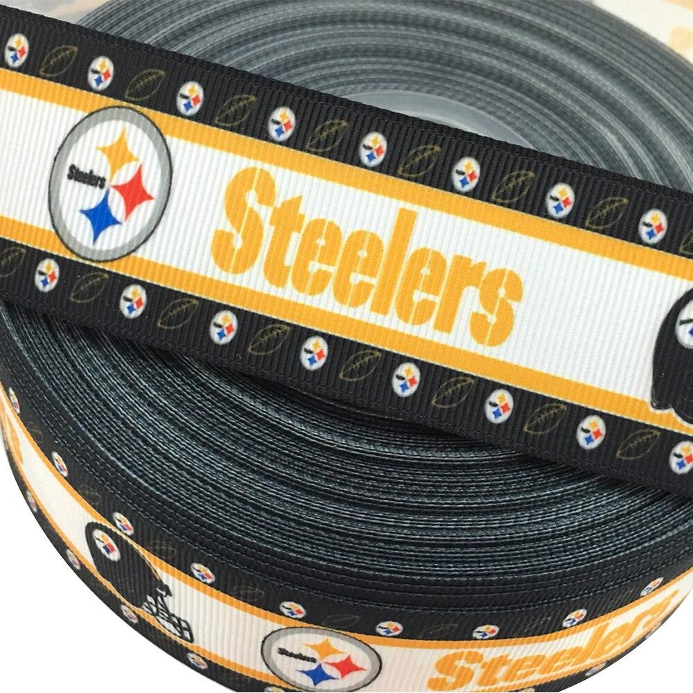 American Football Team Gedruckt Ripsband 22mm 7/8 zoll Handgemachte Hairbows Sammelalbum Nähen Zubehör Sport Gurtband Handwerk