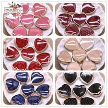 50pcs 12mm heart delicate multicolor Buttons Home Garden Crafts Cabochon Scrapbooking DIY Accessories