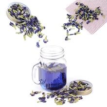 100 g/paquet de thé Clitoria Ternatea. Thé aux pois papillon bleu. Fleur de pois kordofan Clitoria séchée. Thaïlande. Jouet