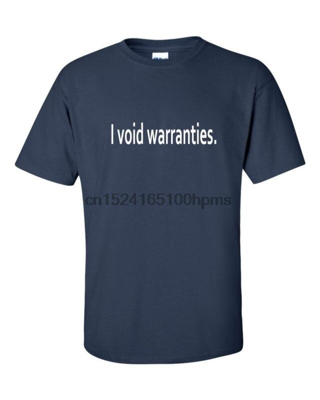 I void Warranties Mens Geek T-shirt Computer Tech Engineer PC Funny Cool Tee