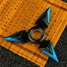 Modèle darmes de fléchettes rotatives en alliage de Zinc Bule Genji Shuriken pour enfants