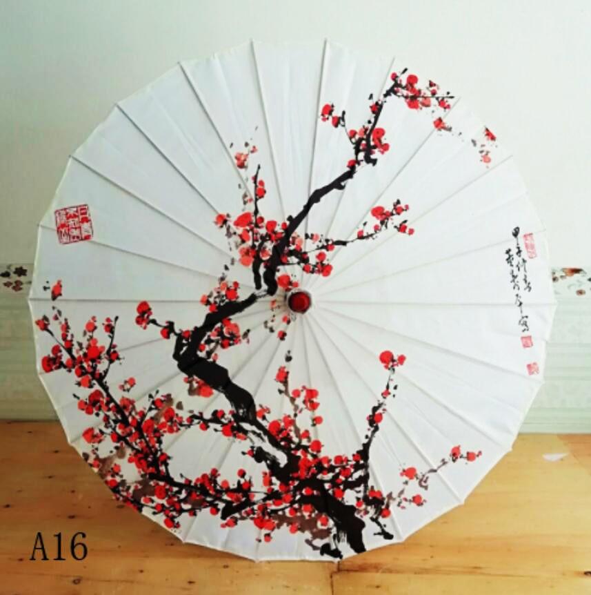 Paraguas de seda para mujeres, paraguas japonés de flores de cerezo de seda, paraguas de baile antiguo, paraguas decorativo, paraguas de papel de aceite de estilo chino