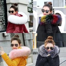 high quality winter women Fashion Faux raccoon fur collar big Artificial fur collar Fake fox fur 8 colour