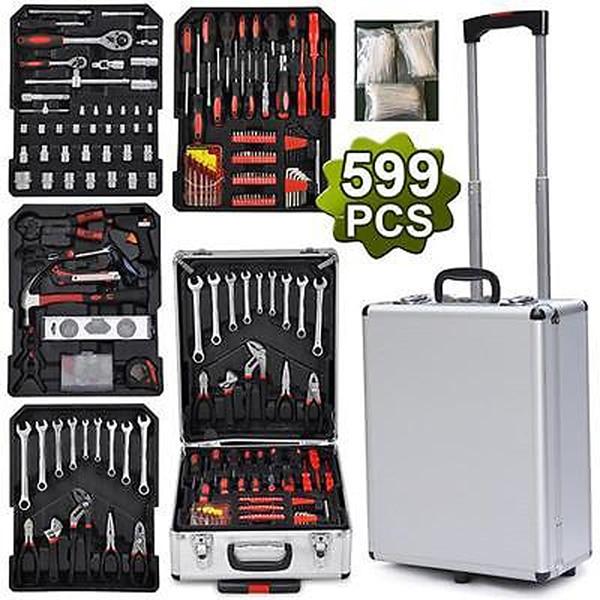 599 conjunto de herramientas Pcs taller de mecánica Kit de modelismo equipos de caja de almacenamiento de carro organizar ruedas caja de herramientas para el coche a casa hogar