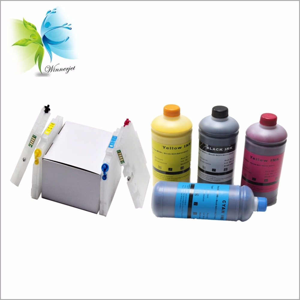 Winnerjet GC41 für Pigment Tinte + nachfüllbare tinten patrone für Ricoh Aficio SG 3110dn sg3100 sg3110 sg7100 sg3110dn sg 7100dn