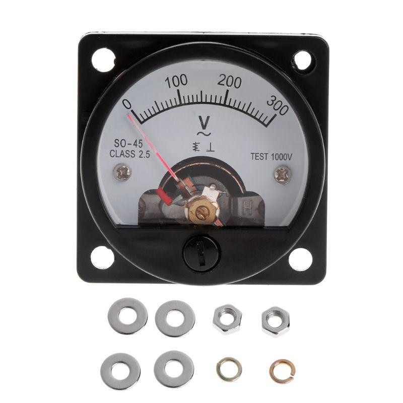 Voltímetro so-45 ac 0-2019 v painel analógico redondo medidor de voltímetro preto, novo, 300