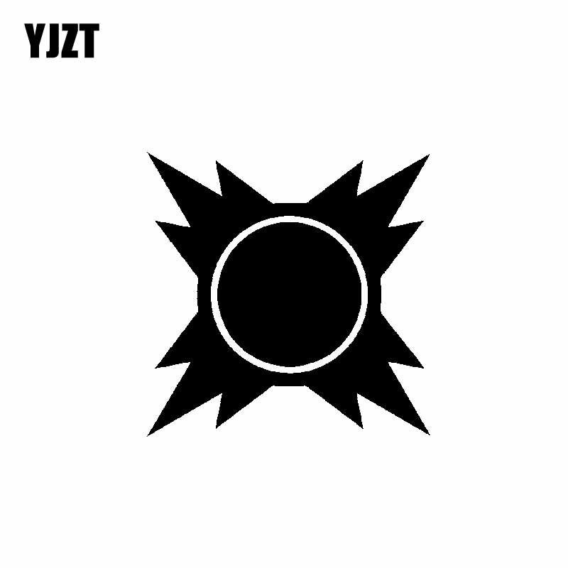 YJZT 14.3 CENTÍMETROS * 14.3 CENTÍMETROS Minimalista Feliz Delicado Radiante Sol Nascente Interessante Vinyl Decal Legal Etiqueta Do Carro Preto/Prata C19-1277
