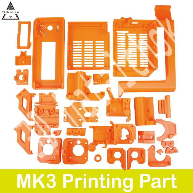 Material estampado por completo 3d Matalchok Pla, piezas para manualidades, Prusa I3 Mk3 3d, Kit de piezas de plástico para impresora, duraderas