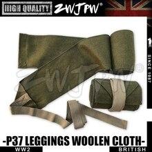 Equipo del ejército británico WW2 P37 mallas de lana réplica de alta calidad verde del ejército ZWJP