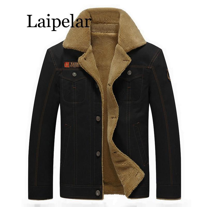 Мужская куртка Laipelar, зимняя куртка-бомбер в стиле милитари, Мужская черная куртка-бомбер