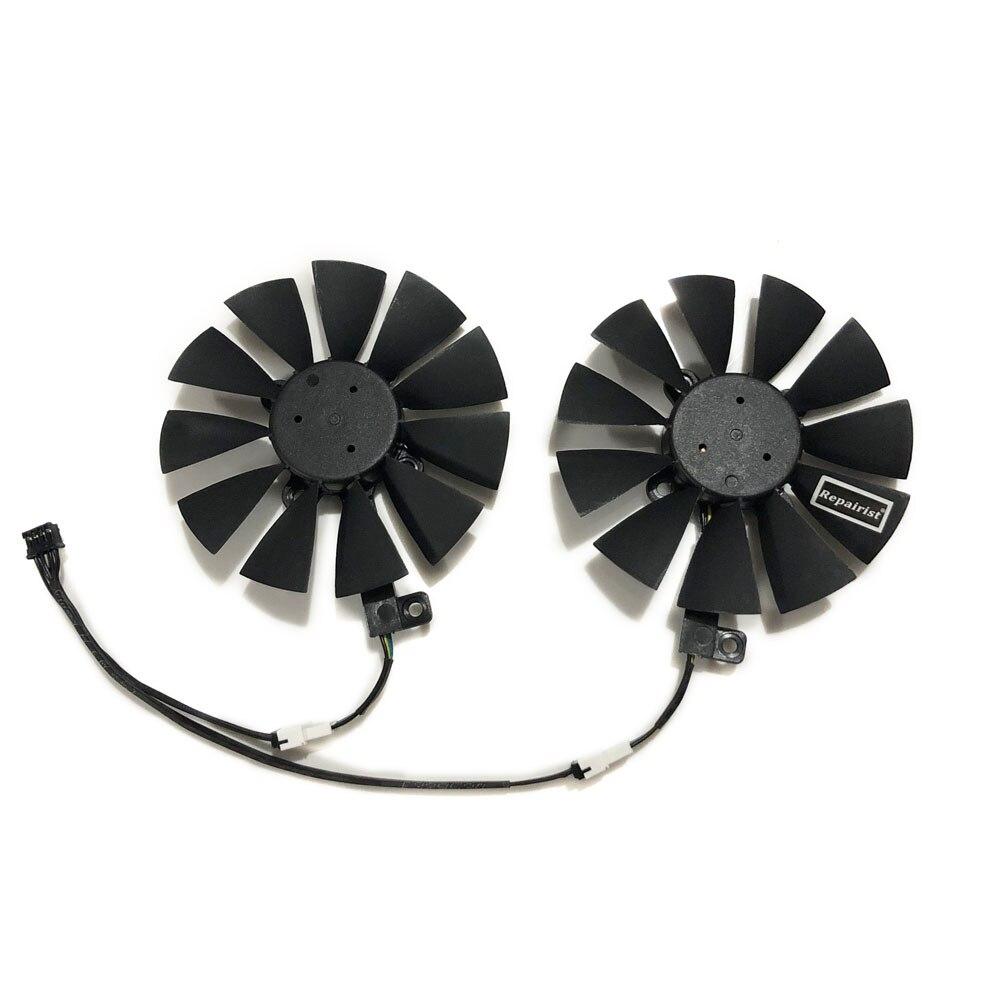 2 pçs/set T129215SU Ventilador Cooler Para ASUS GeForce GTX 1060/1070 DUAL GPU Vídeo EX-GTX1060 EX-GTX1070 Placa Gráfica Arrefecimento
