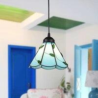 2016 NEW Mediterranean lamp blue leaf Pendant Lights 1/2/3/5 heads. Pastoral luxury European-style suspension lamp