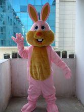 Gran oferta, disfraz profesional de Mascota, tamaño adulto, disfraz de Mascota de conejo rosado elegante, envío gratis