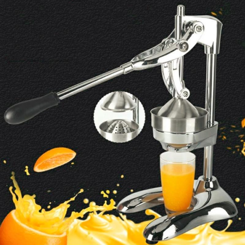 عصارة يدوية من الفولاذ المقاوم للصدأ ، عصارة ليمون ، حمضيات ، برتقال ، رمان ، تجارية أو منزلية