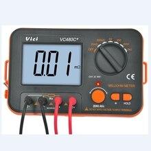 3 1/2 compteur numérique milli-ohm VC480C + LCD rétroéclairé 4 fils Test faible résistance multimètre 6 gammes précision mesure marque VICI