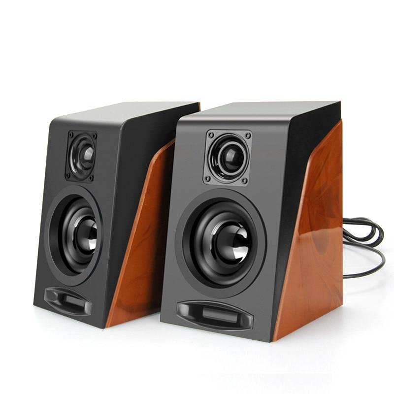 Nouveau MiNi caisson de basses créatif reconstituant les anciennes manières de bureau petits haut-parleurs dordinateur avec Interface USB 2.0 et 3.5mm