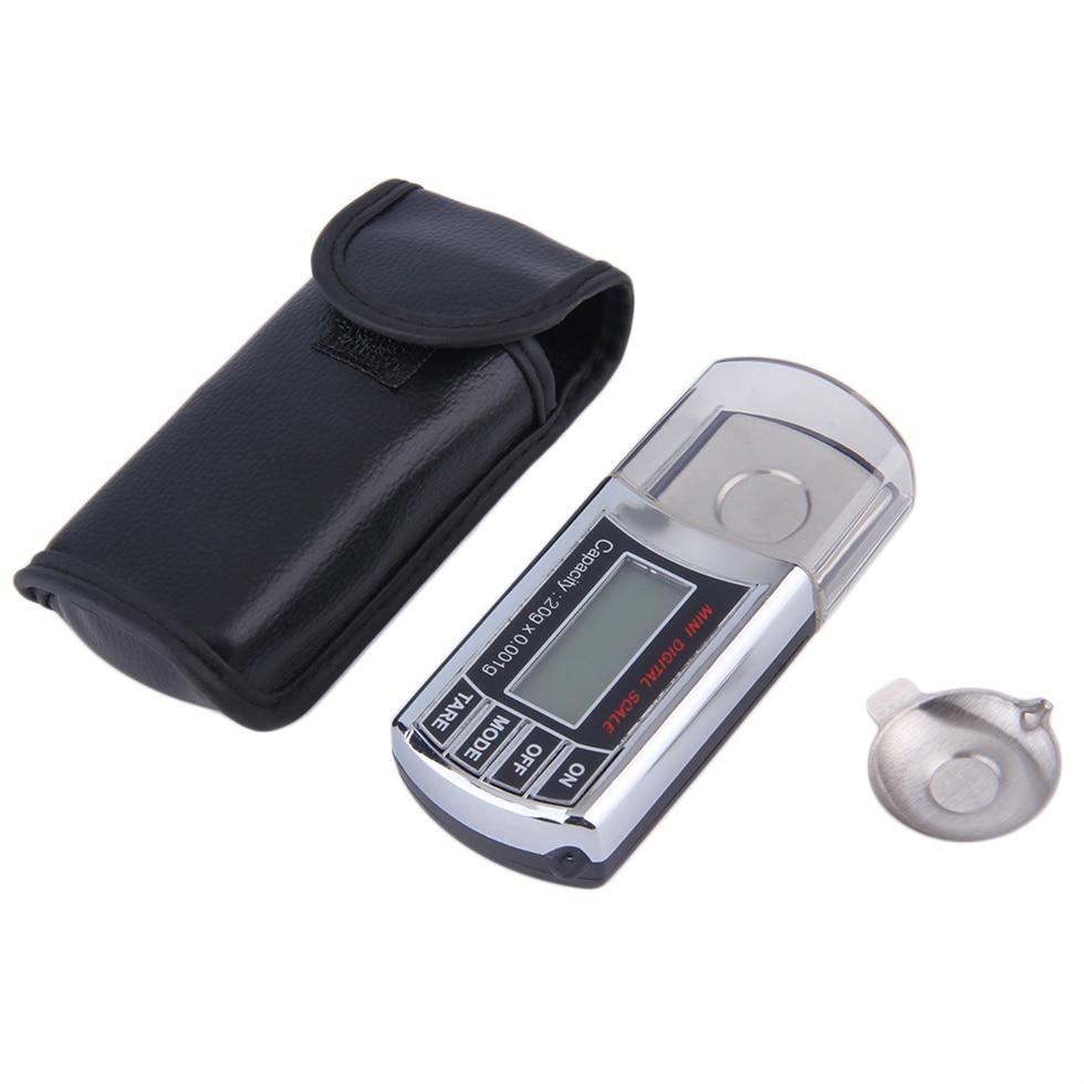 Báscula de diamante de alta precisión de 20g/0,01g/. 001g, minibalanza de bolsillo Digital de miligramos, balanza de peso LCD Quilate