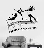 vinyl wall applique music dance floor party nightclub stickers dance hall wall stickers street dance wall stickers tw18