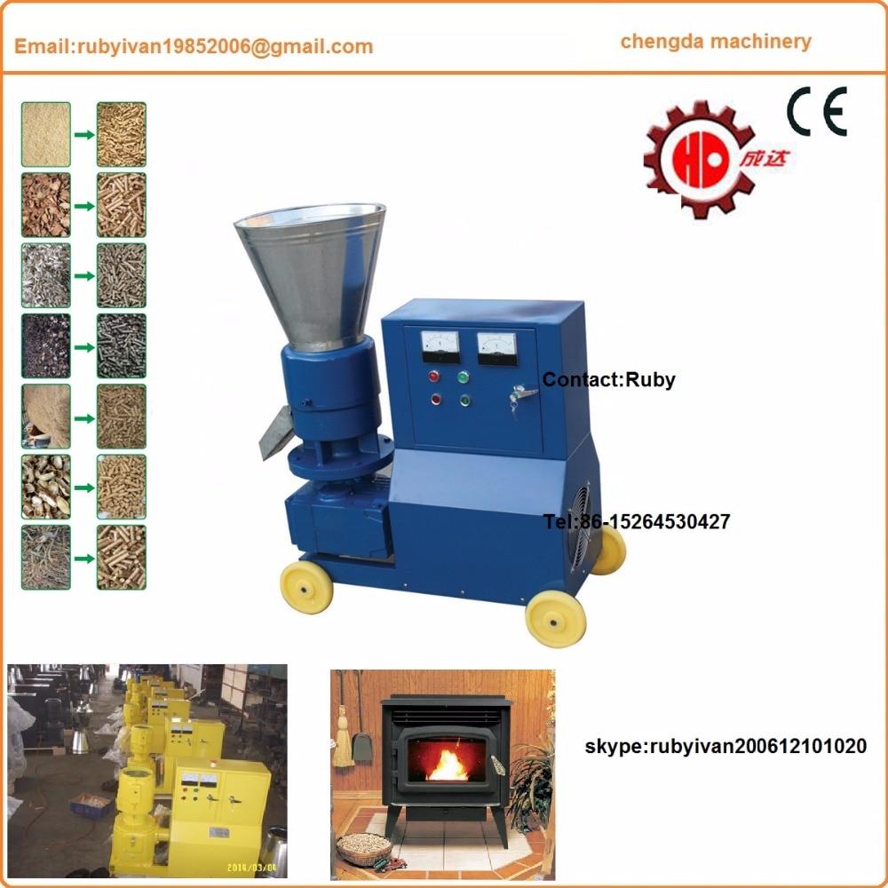 Rodillo móvil MKL295 máquina de pellets de madera con CE