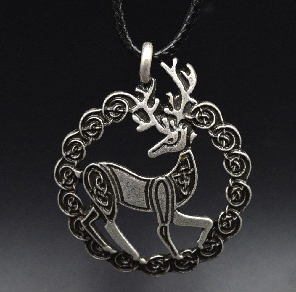 10 pcs Jóias Mitologia Nórdica Deus cervos Pingente Celtics Cervos Colar Para As Mulheres Homens Jóias Viking XL150