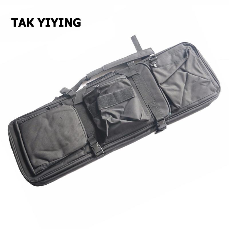 TAK YIYING Airsoft Tactical 85CM Dual Rifle Bag with Shoulder Strap M4 Series High Density Nylon Hunting Gun Bag Case