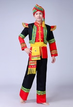 Nouveau Miao vêtements costume adulte mâle Tujia Yi Yao Zhuang minorité danse performance vêtements