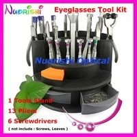 top quality eyewear eyeglass glasses repairing tool kit set 13 pliers 6 screwdriver b07ab free shipping